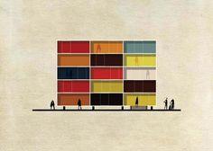 Federico Babina Reinterprets Iconic Artworks into Architectura...