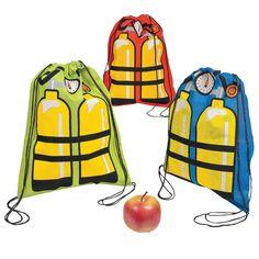Scuba Tank Drawstring Backpacks - OrientalTrading.com