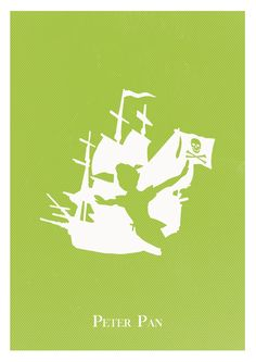 Alternative Peter Pan poster minimalista giclee print retro disney. #art #artwork #fan art #geek #wallart #walldecor #peterpan #graphicdesign #minimalist