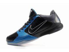best website ed100 1a4c4 Baskets Nike Kobe 5 «Dark Knight» Noir   Gris   Bleu Nike Femme