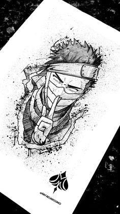 drawing ideas - Comics And Cartoons Naruto Sketch Drawing, Naruto Drawings, Anime Drawings Sketches, Anime Sketch, Art Naruto, Naruto Kakashi, Naruto Shippuden Anime, Anime Naruto, Naruto Tattoo