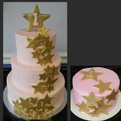 Twinkle Little Star 1st Birthday Cake