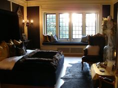 Bedroom designed by Alissa Sutton  Greystone Mansion Beverly Hills