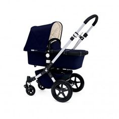 Beautiful Bugaboo Cameleon 3 Aluminium Stroller Base with Classic Navy canopy #baby #newborn