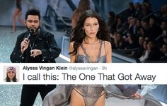 13 Funny Tweets About Bella Hadid and The Weeknd's Runway Moment at the VSFS