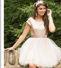 homecoming dress with sequin cap sleeve bodice and full tulle skirt - 1000050397 - debshops.com