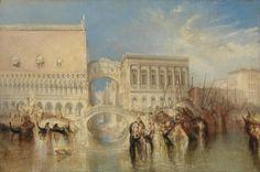 turner paintings tate | Joseph Mallord William Turner, 'Venice, the Bridge of Sighs' exhibited ...