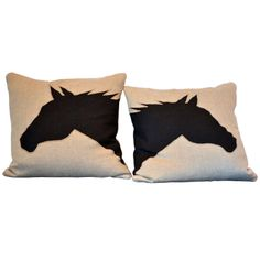 Year of the Horse ~ Neutral horse pillows