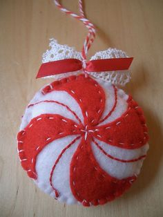 Peppermint ornament | Flickr - Photo Sharing!