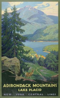 these old posters for the adirondacks are so awesome.