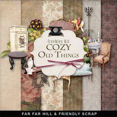 Scrapbooking TammyTags -- TT - Designer - Far Far Hill,  TT - Item - Kit or Collection, TT - Style - Mini Kit, TT - Kit Name - Cozy Old Things