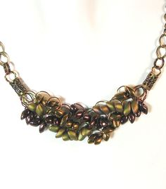 Adjustable Wire Crochet Chain Necklace in by TheTwistedGem on Etsy