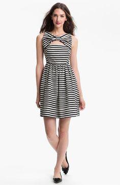 kate spade new york 'vivien' stripe fit & flare dress