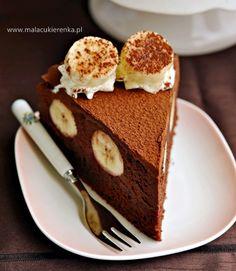 tort czekoladowy z bananami