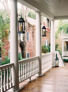 Beautiful porch with hanging Lanterns from Easton Events | Friday Favorites at www.andersonandgrant.com