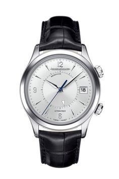 Jaeger-LeCoultre montre Master Memovox http://www.vogue.fr/joaillerie/news-joaillerie/diaporama/jaeger-lecoultre-180-ans-reverso-101-atmos-memovox-montres-horlogerie/11321/image/665870#jaeger-lecoultre-180-ans-horlogerie-montre-master-memovox