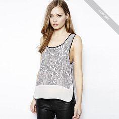 New-Style-Fashion-Ladies-Sleeveless-Chiffon-Shirt-Blouse-Vest-Tank-Brand-new