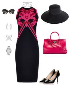 """""""Business Wednesday"""" by conniw-1 ❤ liked on Polyvore featuring moda, Versace, Jimmy Choo, Clyde, Balenciaga, Julieri, MICHAEL Michael Kors ve Prada"""