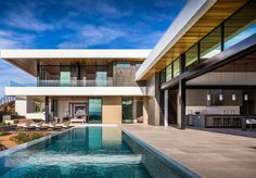 SB Architects design architectural 'inspiration home' for Las Vegas leisure community Best Modern House Design, Modern Villa Design, Modern House Plans, Contemporary Design, Scda Architects, Best Architects, Architect Design House, L Shaped House, Luxury Homes Dream Houses