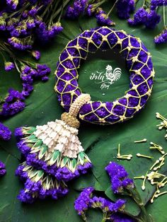 😍Beautiful floral jewellery for pre-wedding functions floral Bangle💜💕 wedding Special Flower Garland Wedding, Floral Garland, Flower Garlands, Wedding Stage Decorations, Flower Decorations, Floral Style, Floral Design, Hand Flowers, Flower Ornaments