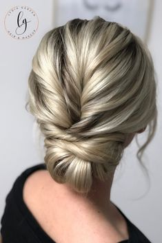 Quick cord hairstyle - wedding hairstyle - This hairstyle is ideal for the maid of honor, bridesmaid or for the mother-in-law. I will guide yo - Bridal Updo, Wedding Updo, Updos For Medium Length Hair, Bridesmaid Hair Updo, Messy Updo, Best Wedding Hairstyles, Hair Lengths, Hair Pins, Hair Makeup