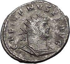 Gallienus Valerian I son Rare Silver Ancient Roman Coin Jupiter i55729