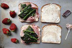 "Ham and ""lettuce"" sandwich"