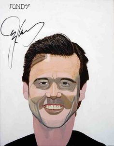 Randy Watkins - Autographed by Jim Carrey - 22 x 28 - Oil over Acrylic