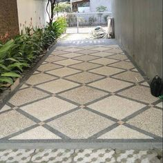 Porch Tile, Porch Flooring, Granite Flooring, Outdoor Flooring, Car Porch Design, House Outside Design, Garage Door Design, Interior Exterior, Exterior Design