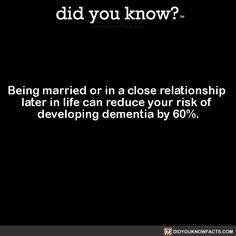 did you know? - Being married or in a close relationship later in. The More You Know, Did You Know, You Just Realized, Psychology Fun Facts, Wtf Fun Facts, Random Facts, Random Stuff, Sweet Stories, Marriage Relationship