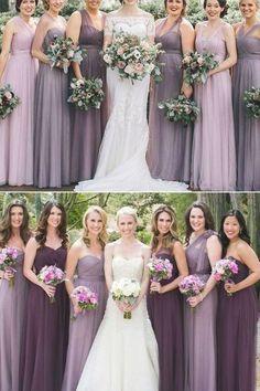Dusty Purple Bridesmaid Dresses, Fall Wedding Bridesmaids, Purple Wedding, Wedding Colors, The Dress, Shades, Flexibility, Shopping, Wedding Ideas