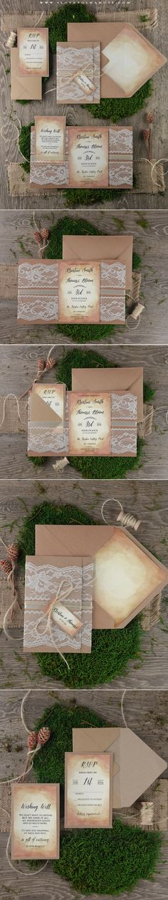 Silver Mist Threaded Real Lace DIY Invitation Kits Design Every Inch Yourself And Print It Assemble At Home So Easy
