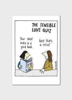 Judy Horacek cartoon card - The Sensible Love Quiz