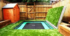 Image of: Square In Ground Trampoline