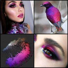 """501 Likes, 4 Comments - Anastasia Aleksandrovich (@muaschool) on Instagram: """"Unreal #starling unreal Nadia @nadinbudrik ✨ #птичкомакияж 🐥 #mua #makeup #creative #beauty #unreal…"""""""