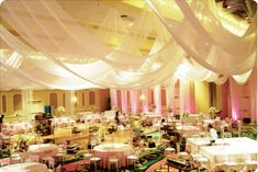 Decoration your ceiling can make a huge impact for your quinceanera | Find quinceanera decorations ideas at http://myperfectquince.com/quinceanera-decorations-ideas-center/