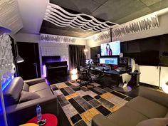 Fadi Jiji's Studio for Music Mixing with acoustic treatment by Vicoustic Professional Audio, Home Studio, Acoustic, Music, Room, House Studio, Musica, Bedroom, Musik