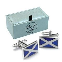 Novelty SCOTLAND SCOTTISH FLAG EMBLEM Cufflinks Gift Boxed