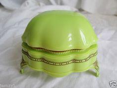 Vintage Antique Celluloid Plastic Bakelite Ring Box Green Art Deco | eBay