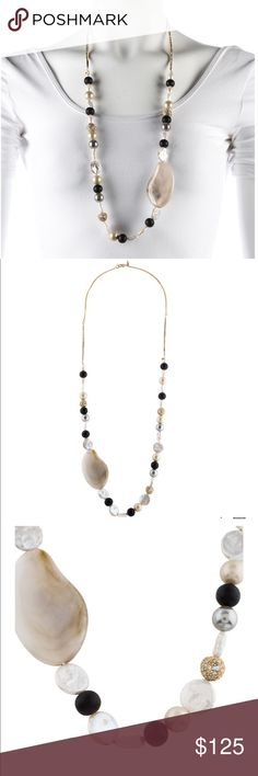 Alexis Bittar pearl,wood& resin necklace Alexis Bittar pearl,wood& resin necklace! New no tags Alexis Bittar Jewelry Necklaces