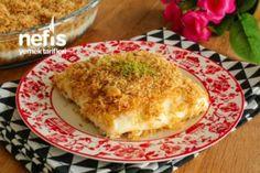 Muhallebili Kadayıf Tatlısı Videosu Tarifi Bulgarian Recipes, Camembert Cheese, Macaroni And Cheese, French Toast, Panna Cotta, Deserts, Food And Drink, Eggs, Breakfast