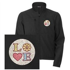 #Artsmith Inc             #ApparelTops              #Men's #Embroidered #Jacket #LOVE #with #Sunflower #Peace #Symbol #Heart      Men's Embroidered Jacket LOVE with Sunflower Peace Symbol and Heart                                     http://www.snaproduct.com/product.aspx?PID=7688830