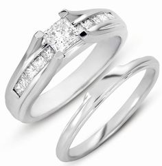 $599.95 for 0.50ct Solitaire SI2-I1 Diamond Princess 14k White Gold Bridal Ring Wedding Band.Enhance your beauty  at any occasion with this beautifull piece of bridal jewelry