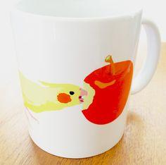 http://konatsu.theshop.jp  #cockatiel #petbirds #bird #picturebooks #mugcup #illustration #オカメインコ #インコ #小鳥 #鳥 #マグカップ