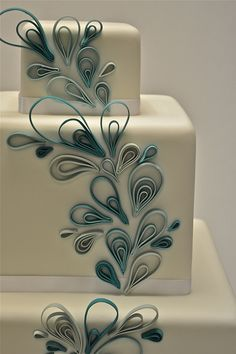 Home &gt Wedding Cakes Droplet Quilling Cake cakepins.com