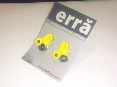 Yellow Bicycle Accessories Bicycle Cuff Links by erracreations, $24.00