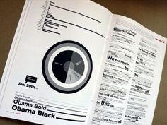 obama's speech: a typographic interpretation Editorial Design Inspiration