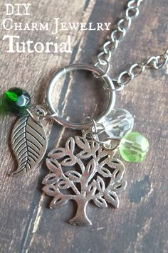I love this nature themed tree and leaf charm jewelry she made with the green beads! Her tutorial is insanely simple on how to make your own diy charm jewelry. Plus where she bought her materials.