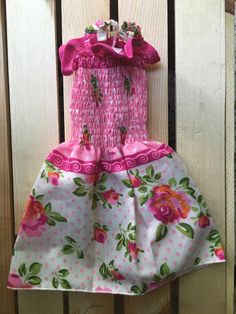 Smocked Dog dress/ Puppy Dress Puppy Clothes/ by GueyitaMexicana
