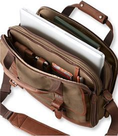 The Maine Guide Briefcase, Waxed Cotton bag.  This is in the running for what my next real bag will be.  Already have a few #LLBean canvas bags and they are all great.